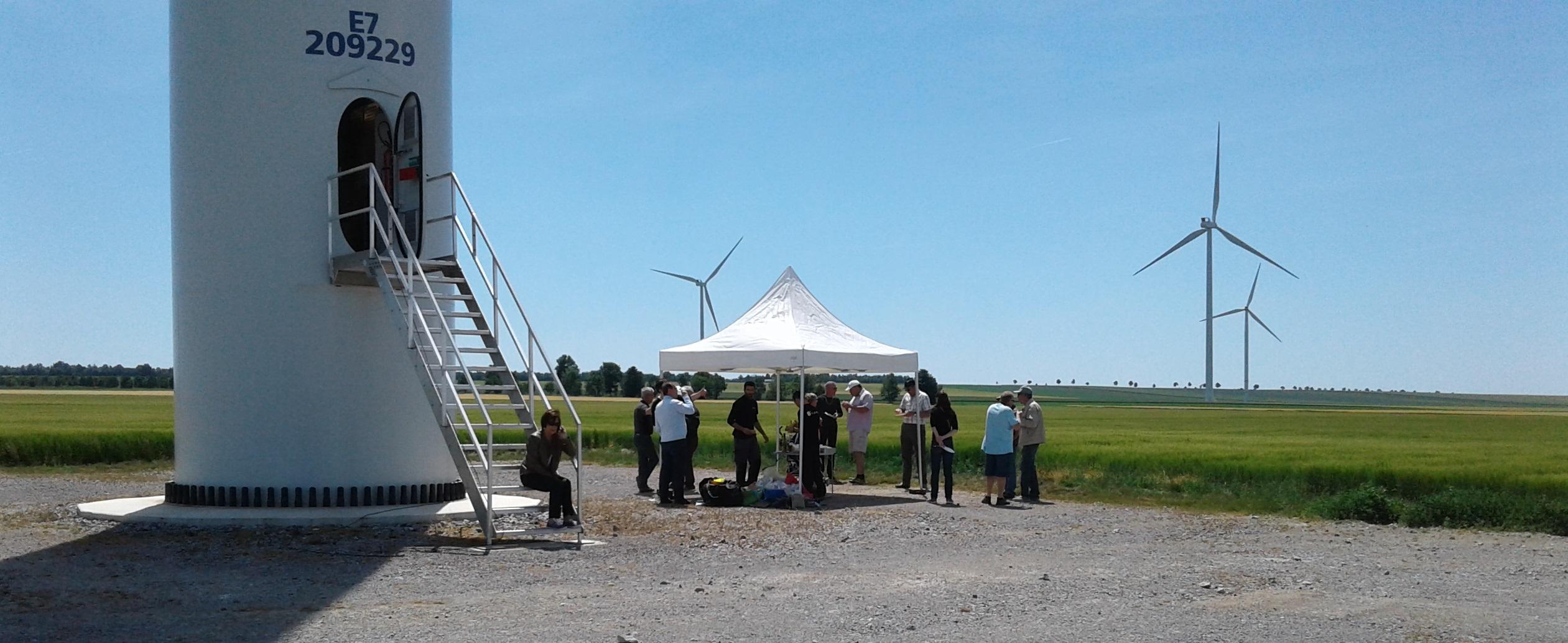 Visite du parc éolien de Thibie Énergies en juin 2017